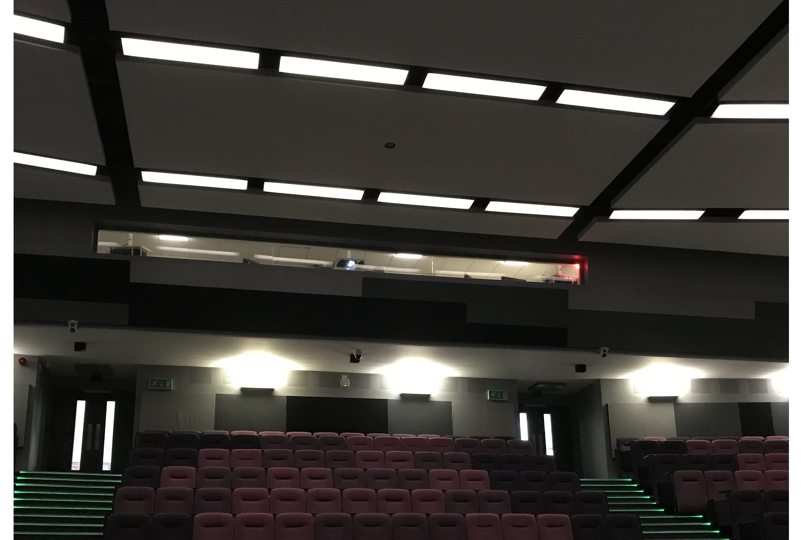 on-air light at the back of the theatre